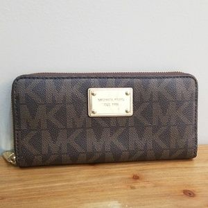 Michael Kors Leather Trifold Wallet (Large)